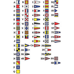 INTERNATIONAL CODE FLAG SET 18X24