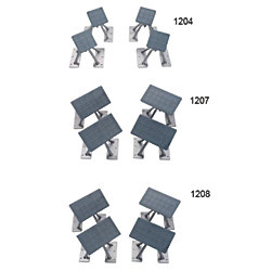 SET OF 4 DINGHY CHOCKS REMOVABLE