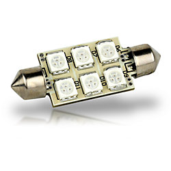 42MM FESTOON 6 LED BULB WARM WHT