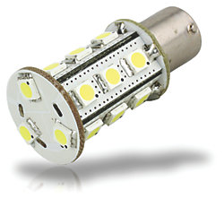 BA15S BULB 18 LED COOL WHT