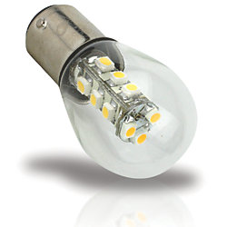 BA15D BULB W/ COVER 15 LED WARM WHT