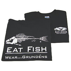 EAT FISH TEE BLK 3XL