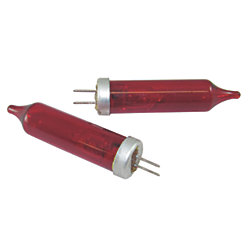 HALOGEN BULB W/RED COVER 12V