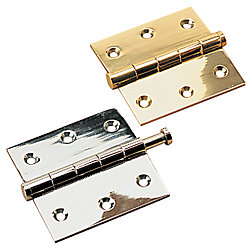 BRASS REMOVABLE PIN HINGE 2X2.5*PR*