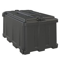 COMMERCIAL BATTERY BOX  GROUP 8D BLK