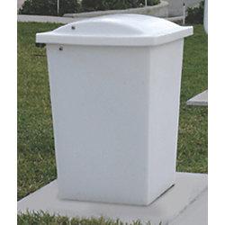 30 Gallon Square Trash Receptacle