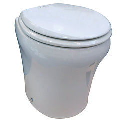 12V WHT 8152 MACERATOR TOILET STD HEIGHT