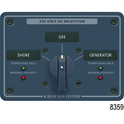 230V 30A 2 POLE 2 SOURCE SWITCH PANEL