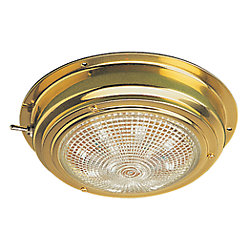 BRASS LED DOME LIGHT 4 IN LENS