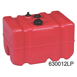 12 Gallon Tall Profile EPA and Carb Compliant Portable Plastic Fuel Tank