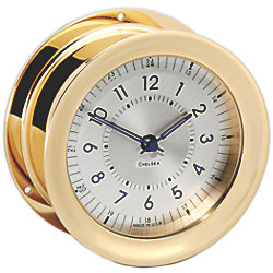 Polaris 12/24 Clock - Brass