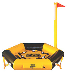 THROW WATER ACTIVATED RESCUE PLATFORM