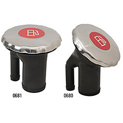 0680 & 0681 EPA Compliant Sealed Ratcheting Chromed Scalloped Cap Fuel Fill - Metallic Decal