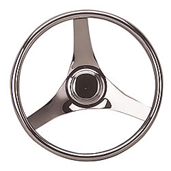 13-1/2IN SS STEERING WHEEL 3SPOKE