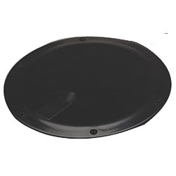 8IN BLK SMOOTH DECK PLATE POPOUT CLR LID