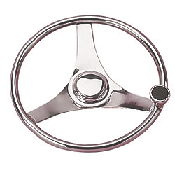 Three Spoke Steering Wheel With Integral Knob