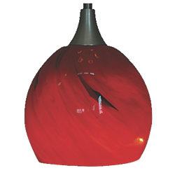 "3-1/2"" Hand Blown Glass LED Hanging Light"