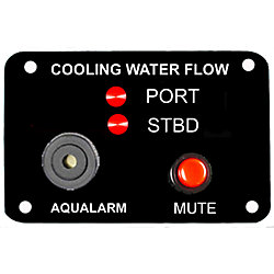 Twin Engine Cooling Water Flow Panel