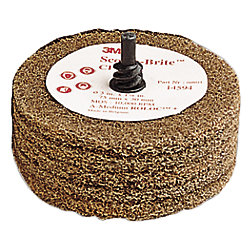 "Scotch-Brite CPD5-S Polishing Disc - with 1/4"" Shaft"