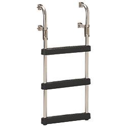 Transom Ladder With Black Poly Steps