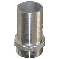 Straight Pipe to Hose Adapters - Stainless Steel