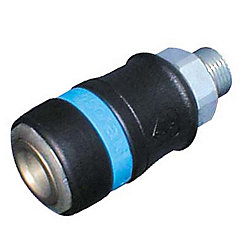 "Industrial Profile 1/2"" Body Safety Quick MNPT Plug"