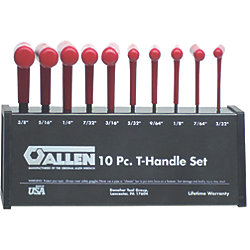 10-Piece T-Handle Hex Key Wrench Set
