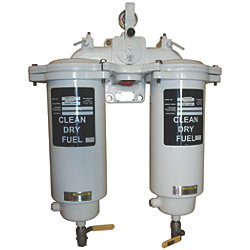 FBO-14 Duplex Fuel Filter/Water Separator with Selector Valve - Marine Series