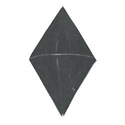 DOUBLE CONE DAYMARK, 24INX48IN BLACK