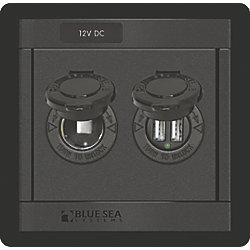 360 Panel - 12V DC Socket and Dual USB Charger