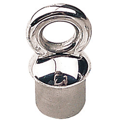 STAINLESS STANCHION PLUG EYE 1IN