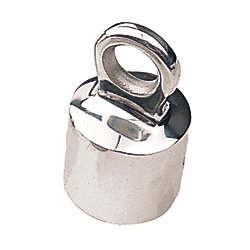 STAINLESS STANCHION CAP EYE 1IN