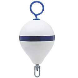 18IN DIA WHT/STRIPE MOORING BUOY
