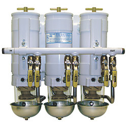 Triple Manifold Turbine Series Diesel Filtration