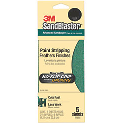 SandBlaster Sandpaper with No-Slip Grip Backing - Retail Packs