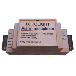 Alarm Multiplexer for Lopolight Navigation Lights