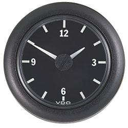 """2-1/16"""" Analog Clock 12V DC"""