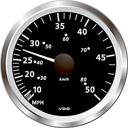 """Discontinued: 3-3/8"""" Viewline Pitot Speedometers - 50 or 80 MPH"""