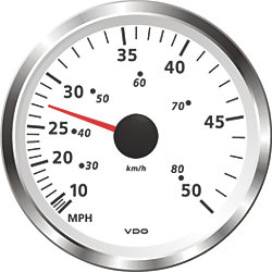 """3-3/8"""" Viewline Pitot Speedometers - 50 or 80 MPH"""
