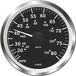 "3-3/8"" Viewline Pitot Speedometers - 50 or 80 MPH"