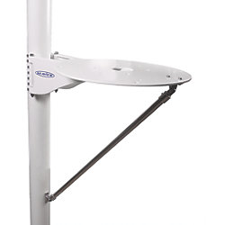 "Mast Mount Platform for 24"" Satdomes and Cameras"
