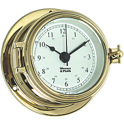 Endurance II 105 Quartz Clock - Brass with Arabic Numerals