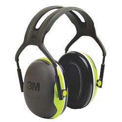 Peltor X4A Over the Head Earmuffs