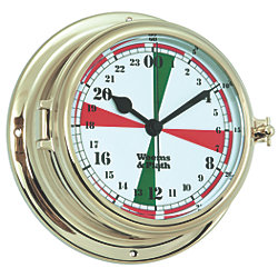 Endurance II 135 Radio Room Quartz Clock - Brass