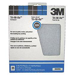 Tri-M-ite Silicon Carbide Paper Sheets - 426U, 25 Pack