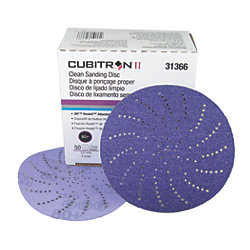 Hookit Cubitron II Purple Clean Sanding Discs - 737U