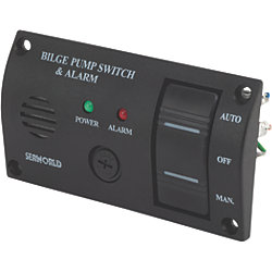 Bilge Water Alarm Panel With Pump Switch