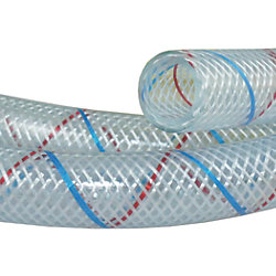 3/8IN CLR/BLU/RED FDA H2O HOSE (250/SP)