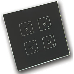 RF Light Dimmer - 4 Zone Wall Mount Transmitter/Controller