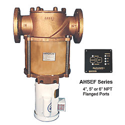 AHSEF Hydromatic Electric Self-Cleaning Flanged Raw Water Strainer - with Bronze Enclosure